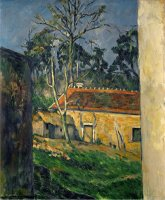 Farmyard at Auvers 1879 1882 by Paul Cezanne