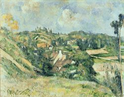 Houses of Valhermeil Seen in The Direction of Auvers Sur Oise 1882 by Paul Cezanne