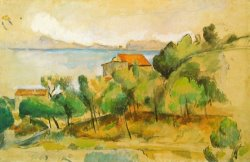 Landscape on The Mediterranean by Paul Cezanne