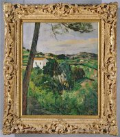 Landscape with Red Roof Or The Pine at The Estaque 1875 76 by Paul Cezanne