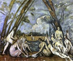 Les Grand Baigneuses No 1 by Paul Cezanne