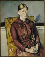 Madame Cezanne with a Yellow Armchair 1888 90 by Paul Cezanne