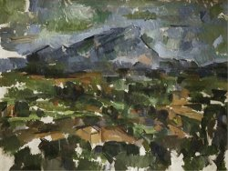 Mont Sainte Victoire Seen From Les Lauves 1902 06 by Paul Cezanne