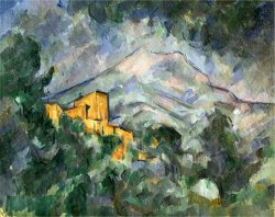 Montagne Sainte Victoire And The Black Chateau 1904 06 by Paul Cezanne