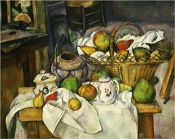 Nature Morte Au Panier 1888 90 Still Life with Basket by Paul Cezanne