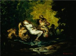 Nereid And Tritons by Paul Cezanne