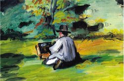 Painter at Work by Paul Cezanne