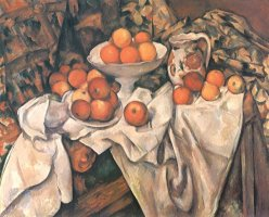 Still Life with Apples And Oranges C 1895 1900 by Paul Cezanne