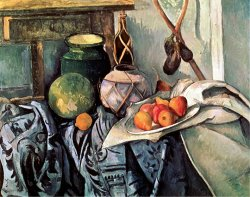 Still Life with Pitcher And Aubergines by Paul Cezanne