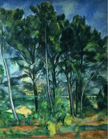 The Aqueduct Montagne Sainte Victoire Seen Through Trees Circa 1885 87 by Paul Cezanne
