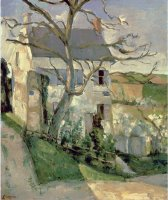 The House And The Tree C 1873 74 by Paul Cezanne