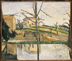 The Pool at Jas De Bouffan C 1878 by Paul Cezanne
