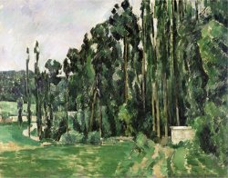 The Poplars Circa 1879 82 by Paul Cezanne