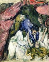 The Strangled Woman Circa 1870 72 by Paul Cezanne