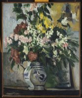 Two Vases of Flowers C 1877 by Paul Cezanne