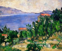 View of Mount Mareseilleveyre And The Isle of Maire Circa 1882 85 by Paul Cezanne
