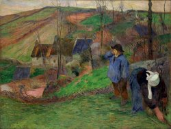 Landscape of Brittany by Paul Gauguin