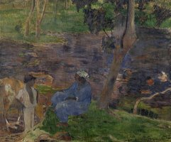 On The Shore of The Lake at Martinique by Paul Gauguin