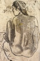 Seated Tahitian Nude From The Back by Paul Gauguin