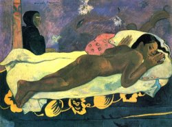 The Spirit of The Dead Keeps Watch by Paul Gauguin