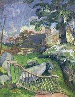 The Wooden Gate Or, The Pig Keeper by Paul Gauguin