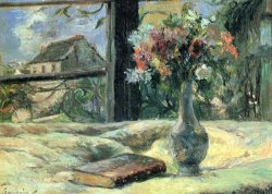 Vase of Flowers at The Window by Paul Gauguin