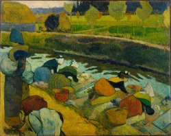 Washerwomen by Paul Gauguin