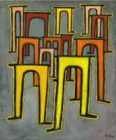 Revolution of The Viaduct 1937 by Paul Klee