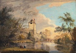An Unfinished View of The West Gate, Canterbury by Paul Sandby