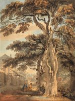 Couple in a Farmyard by Paul Sandby
