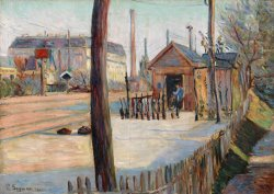 Railway Junction Near Bois Colombes by Paul Signac