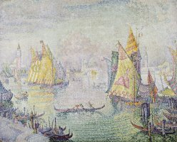 The Lagoon of Saint Mark, Venice by Paul Signac