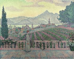 Woman on the Terrace by Paul Signac