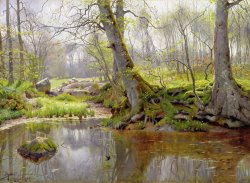 Woodland Pond by Peder Monsted