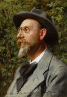 Portraet Af Professor Jacobsen by Peder Mork Monsted