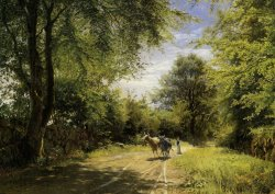 The Young Cowherd by Peder Mork Monsted
