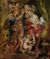 Alexander And Roxana by Peter Paul Rubens
