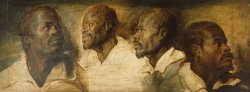 Four Studies of a Male Head by Peter Paul Rubens