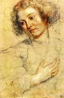 Head And Right Hand of a Woman by Peter Paul Rubens