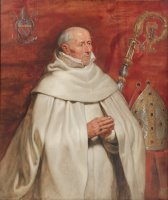 Matthaeus Yrsselius (1541 1629), Abbot of Sint Michiel's Abbey in Antwerp by Peter Paul Rubens