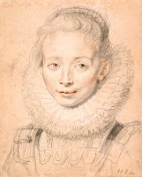 Rubens's Daughter Clara Serena (so Named Maid of Honor of Infanta Isabella) C. 1623 by Peter Paul Rubens