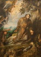 St. Francis Of Assisi Receiving The Stigmata by Peter Paul Rubens