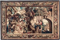 Tapestry Showing The Triumph of Constantine Over Maxentius at The Battle of The Milvian Bridge by Peter Paul Rubens