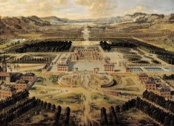 Perspective View of The Chateau, Gardens And Park of Versailles Seen From The Avenue De Paris by Pierre Patel I