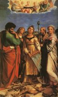 St Cecilia with Sts Paul, John Evangelists, Augustine And Mary Magdalene by Raphael