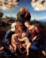 The Holy Family with Saints Elizabeth And John by Raphael