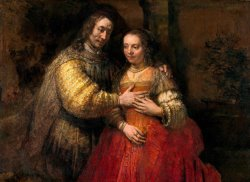 Portrait of Two Figures From The Old Testament, Known As 'the Jewish Bride' by Rembrandt