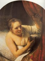 Sarah Waiting for Tobias by Rembrandt
