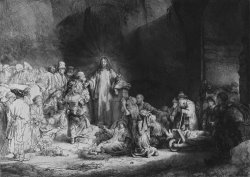 The Hundred Guilder Print by Rembrandt