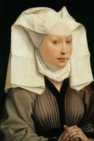 Portrait Of A Woman With A Winged Bonnet by Rogier van der Weyden